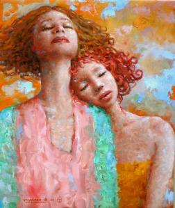 Las Soñadoras Oleo sobre tela 2004 de Hugo Urlacher